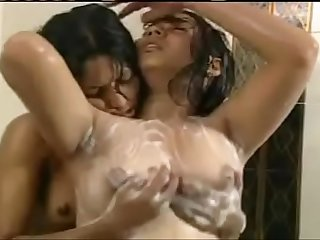 Indian girls breast Massage in bathroom