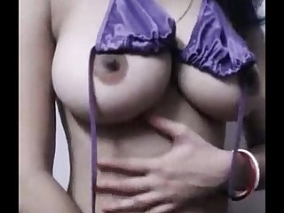 Slim Smart Sexy Indian Bhabhi In Lingerie - IndianHiddenCams.com