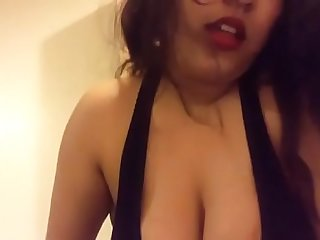 pakistani girl playing with her boobs with audio